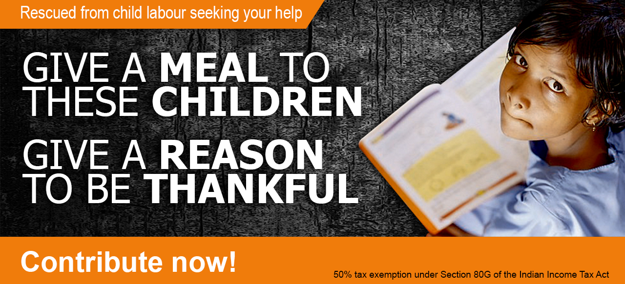 Help Children Break The Chains Of Hunger, Donate To Annamrita!