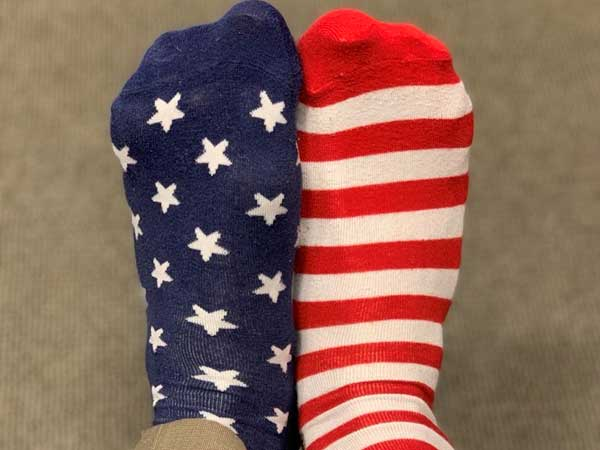 Americans wear colourful socks to pay final tributes to George H W Bush