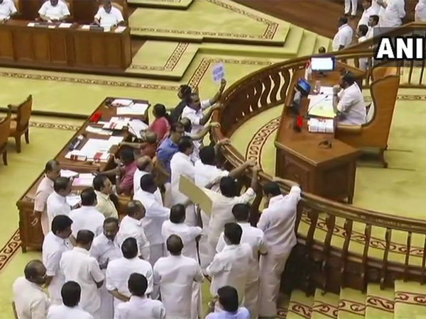 Kerala Assembly adjourned for the day. Courtesy: ANI news