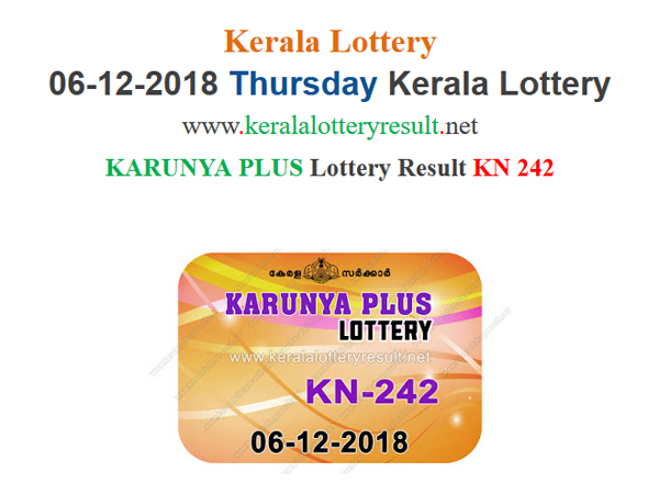 Kerala Lottery Result Today: Karunya Plus KN-242 Today Lottery result LIVE
