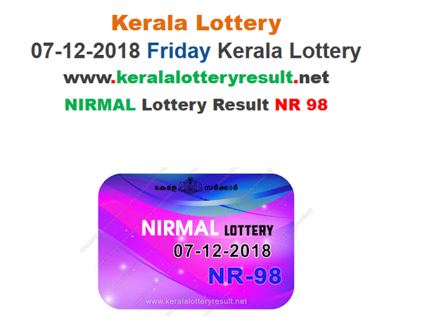 Kerala Lottery Result Today: Nirmal NR-98 Today Lottery Results LIVE