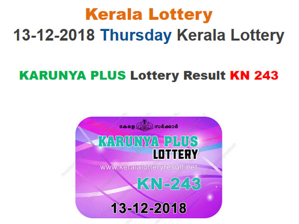 Kerala Lottery Result Today: Karunya Plus KN-243 Today Lottery Results LIVE