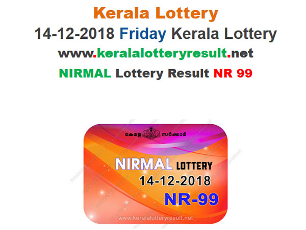 Kerala Lottery Result Today: Nirmal NR-99 Today Lottery result LIVE