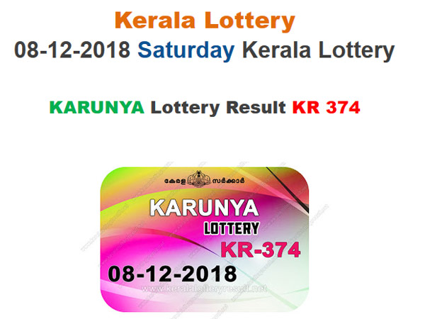 Kerala Lottery Result Today: Karunya KR-374 Today Lottery Results