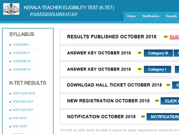 Kerala TET Results 2018 declared, how to check