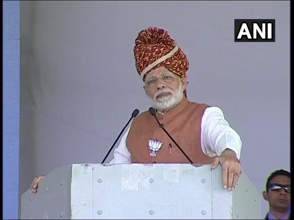 PM Modi addressing rally in Jodhpur