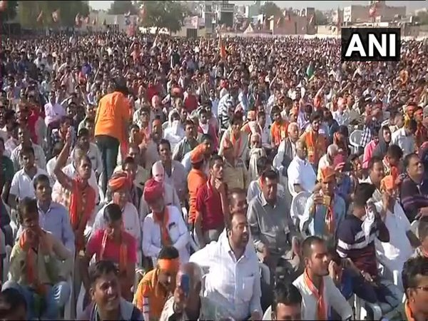 Crowd at PM Modi's rally in Jodhpur