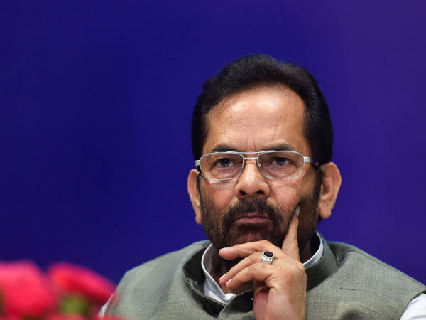 File photo of BJP leader Mukhtar Abbas Naqvi