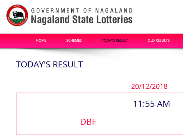 Nagaland Lotteries today results LIVE, winning numbers