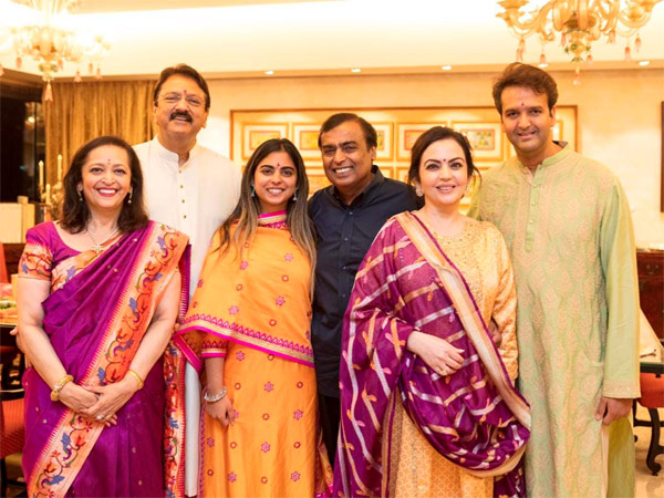 Piramal and Ambani family during engagement