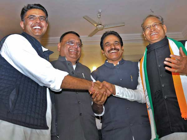 Congress takes back the helm from BJP in Rajasthan
