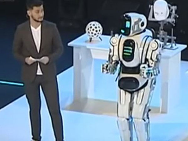 Dancing robot in Russia to display country's technological progress turns out to be a man