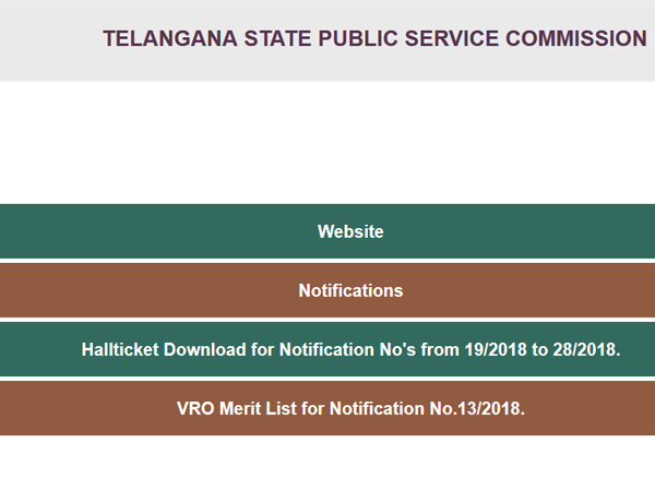 TSPC VRO Results 2018 declared, steps to check