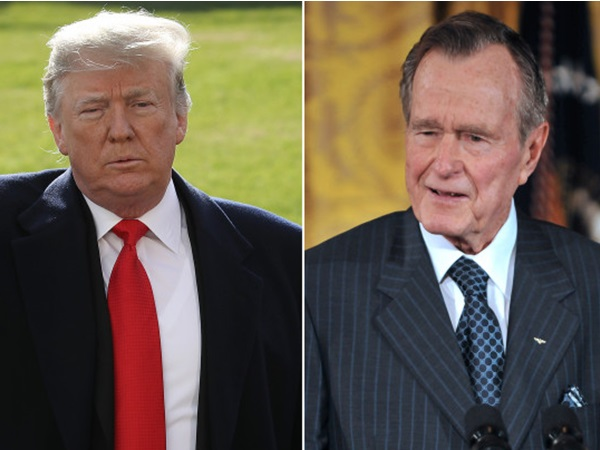 After George H W Bush's death, Trump did something people liked… for a change