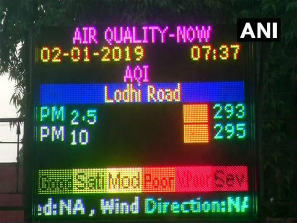 Day after New Year, Delhis air quality improves, in Poor category