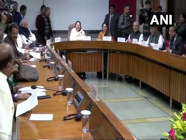 All party meeting ahead of the Budget session (Image courtesy - ANI/Twitter)