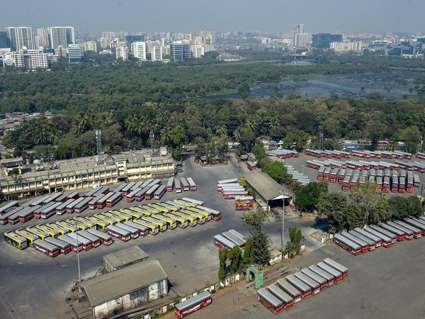 A view of Dharavi depot after over 33,000 employees of Mumbais civic transport undertaking BEST went on an indefinite strike since midnight over their demands, including higher wages, in Mumbai, Tuesday, Jan 8, 2019. (PTI Photo