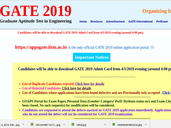 GATE 2019 News: GATE 2019: Admit Card Released, Here's How To Download