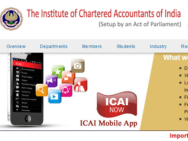 ICAI CA 2018 result date and time
