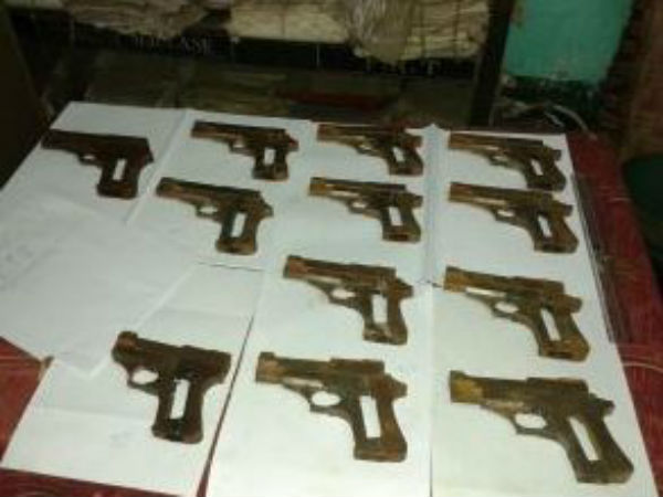 Two illegal arms units busted in Mathura