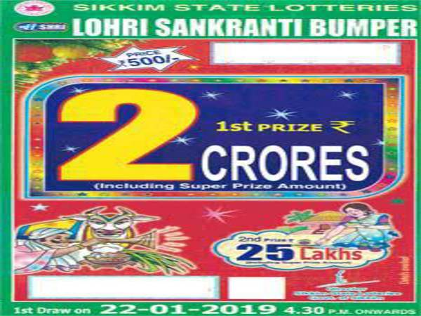 Online Sikkim State Lottery/Lohri Sankranti Bumper Lottery result:How, where to buy ticket