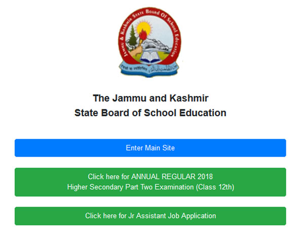 JKBOSE 12th Kashmir Zone result 2018 declared, how to check