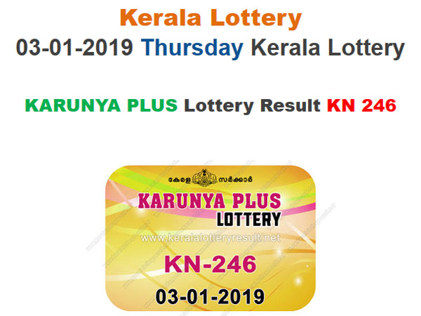 Kerala Lottery Result Today: Karunya Plus KN-246 Today