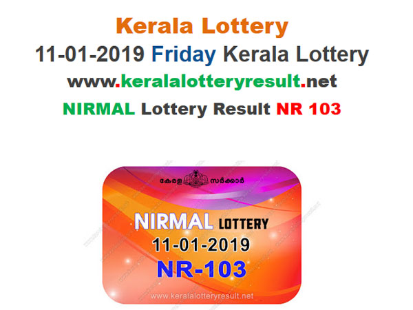 Kerala Lottery Result Today: Check Nirmal NR-103 Today Lottery results LIVE now