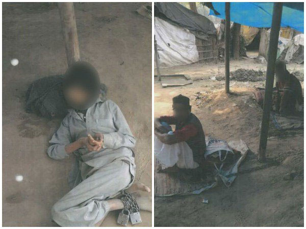 Mentally ill people chained in sheds in Uttar Pradeshs Badaun. COurtesy: ANI news