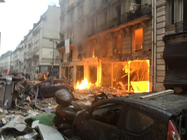 Loud explosion in central Paris, no casualties reported. Courtesy: NFTV