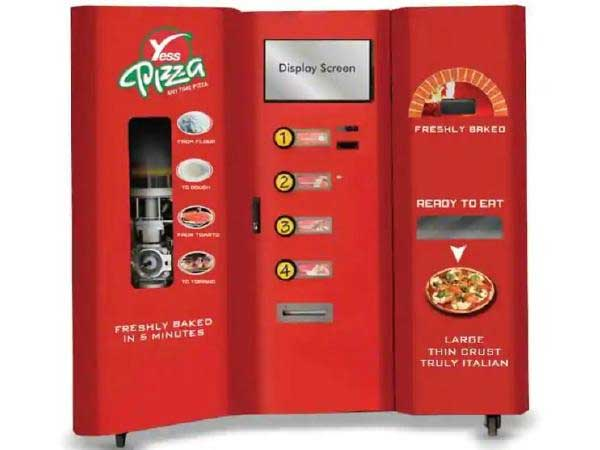 Want to have freshly baked pizza? Hit the vending machine before boarding train