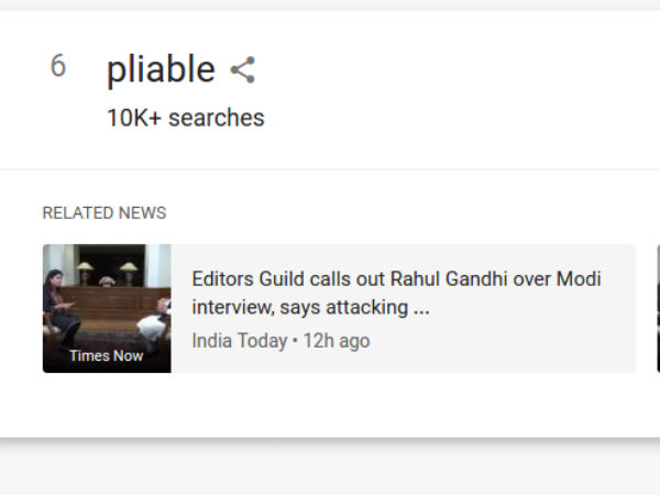 Rahul's tweet accusing Journalist made the entire country look up for Pliable word to make sense