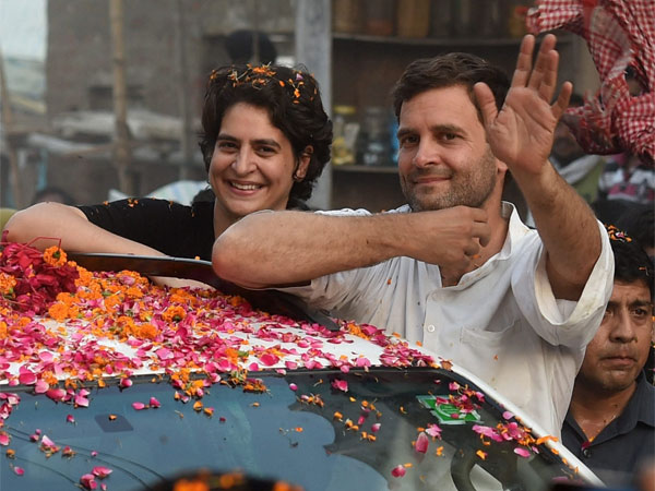 file photo Priyanka Vadra is seen with her brother and Congress President Rahul Gandhi during a road show in Amethi.