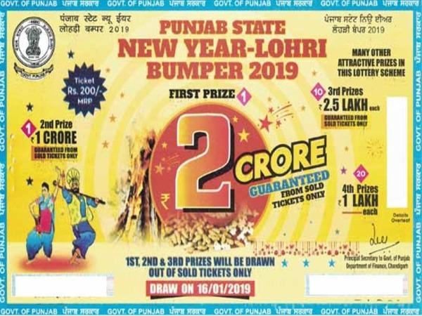 Punjab State Lohri Bumper Lottery 2019: First 3 prizes
