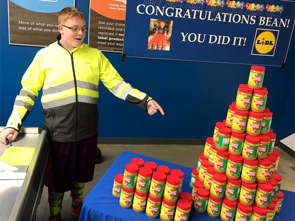 US: Autistic boy who has lifetime supply of peanut butter is distributing it among unpaid workers