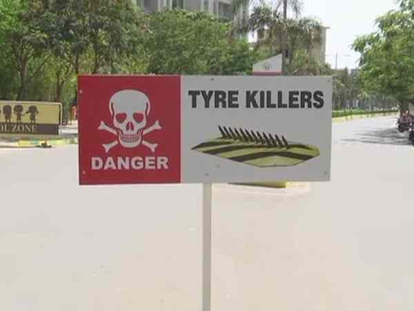Beware! After Pune, now Noida installs tyre killers to check wrong side driving