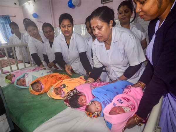 On New Year's Day, most number of babies were born in India; China distant second