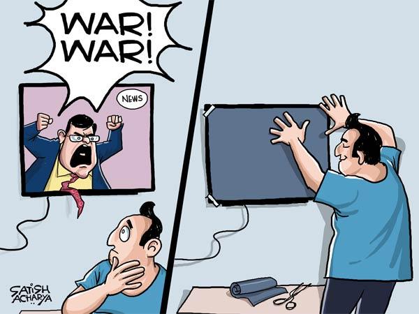 Did media declare war against Pakistan from TV studio?