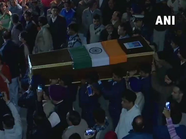 Mortal remains of Wing Commander Siddharth, who lost his life in Budgam crash brought to residence