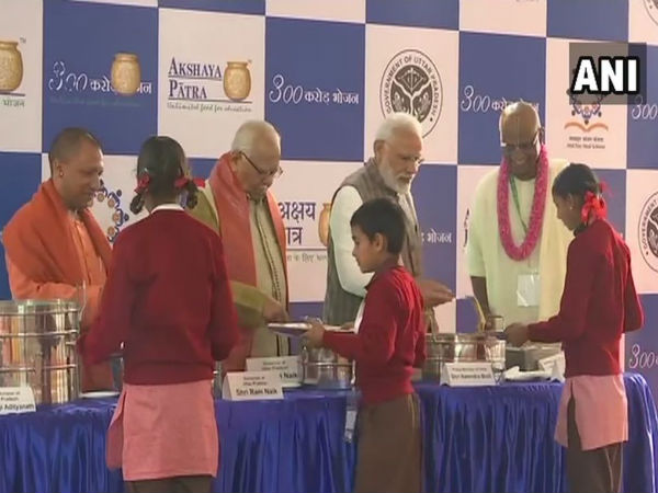 Modi serves 3 billionth Akshay Patra meal to underprivileged kids in Vrindavan