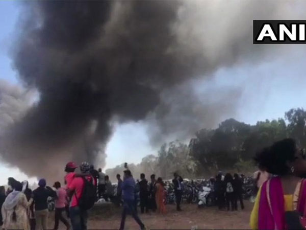 Bengaluru: About 100 cars gutted in fire at Aero India 2019, show suspended temporarily