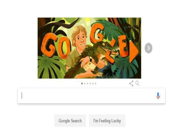 Todays Google Doodle is dedicated to legendary Crocodile Hunter Steve Irwin