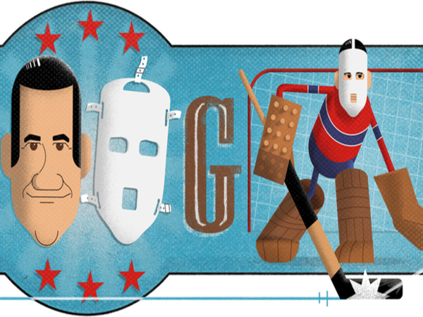 Google dedicates doodle to ice hockey goaltender Jacques Plante