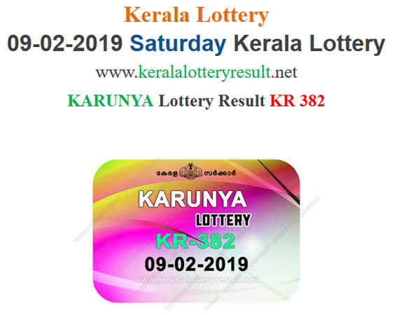 Kerala Lottery Result Today: Karunya KR-382 Today Lottery result