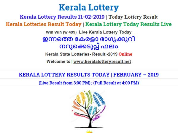 Kerala Lottery Result Today: Win Win W-499 Today Lottery results LIVE now