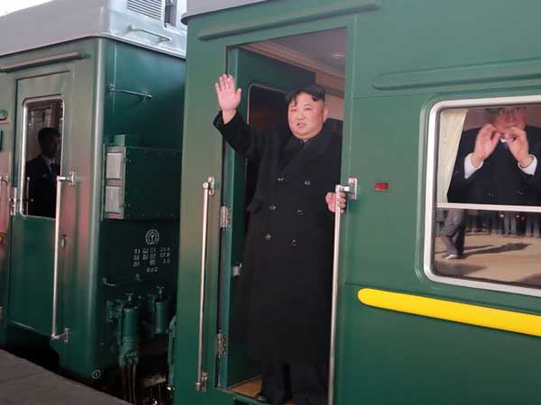Ready for second summit: Kim travels to Vietnam by train