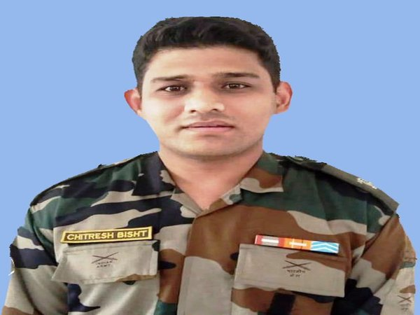Major Chitresh Singh Bisht (Image credit - ANI/Twitter)