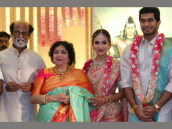 Soundarya Rajinikanth, Vishagan Vanangamudi tie the knot; Celebs, politicians make a beeline