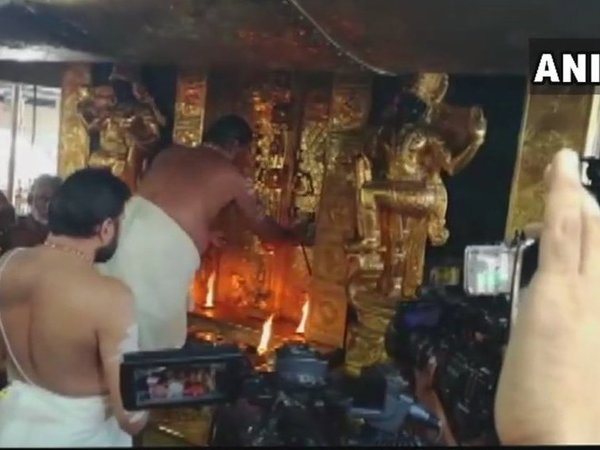 Sabarimala temple reopens for five-day monthly puja . Courtesy: ANI news