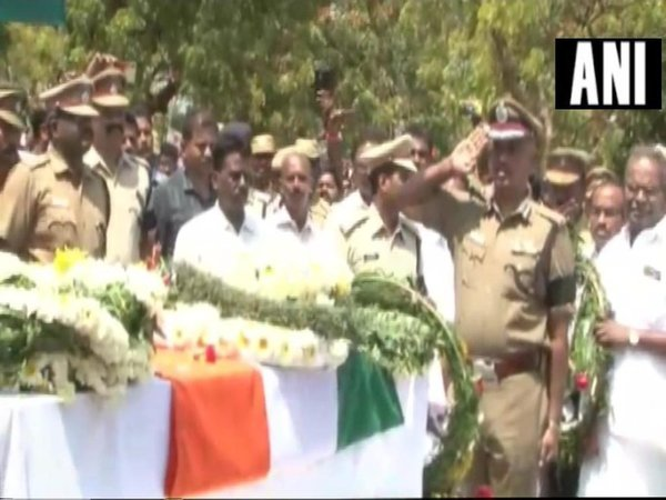 Last rites of G Subramanian from Tamil Nadu